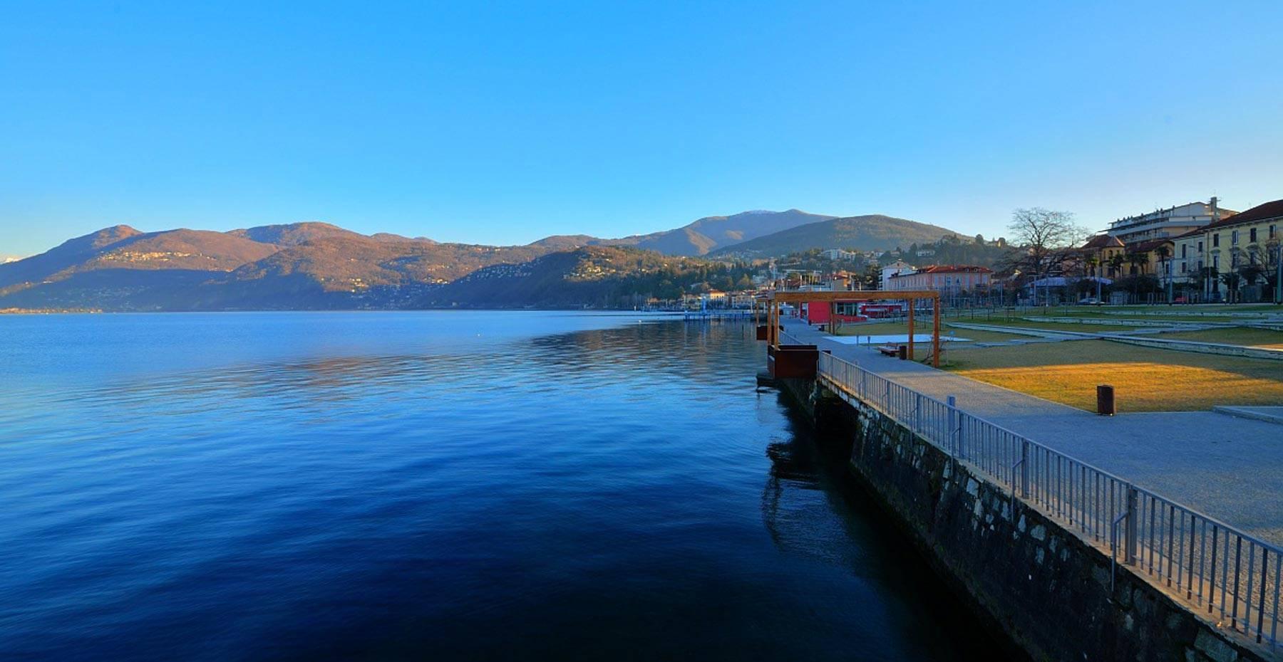Lago Maggiore Sehenswertes Luino Wanderweg Camin Hotel Luino